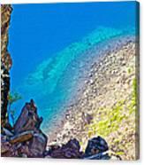 Aquamarine Shoreline At North Junction Of Crater Lake In Crater Lake National Park-oregon Canvas Print
