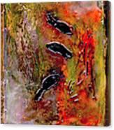Aquarium Encaustic Canvas Print