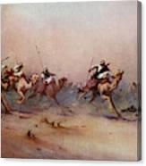 Arab Riders Spur Their Camels Canvas Print