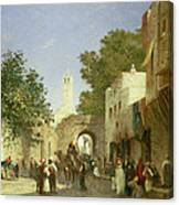 Arab Street Scene Canvas Print