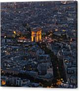 Arc De Triomphe From Above Canvas Print