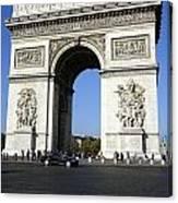 Arc De Triomphe In Paris France Canvas Print