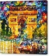 Arc De Triomphe Canvas Print