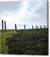 Arc Of Stones At The Ring Of Brodgar Canvas Print