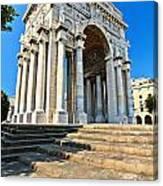 arc of triumph in Piazza Della Vittoria - Genova Canvas Print