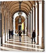 Arcades Of Lisbon Canvas Print