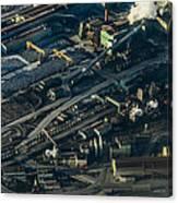 Arcelormittal Dofasco In Winter Canvas Print