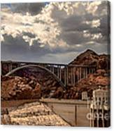 Arch Bridge And Hoover Dam Canvas Print