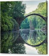Arch Bridge (Rakotzbrucke) in Kromlau Canvas Print