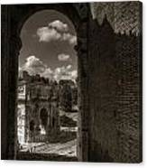 Arch Of Constantine From The Colosseum Canvas Print