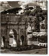Arch Of Contantine Canvas Print