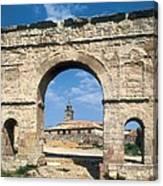 Arch Of Medinaceli. 1st C. Spain Canvas Print