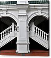 Arch Staircase Balustrade And Columns Canvas Print
