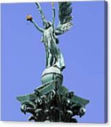 Archangel Gabriel Statue In Budapest Canvas Print