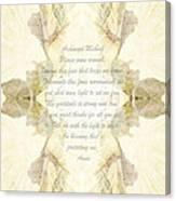 Archangel Michael Remove Fear  Canvas Print