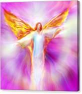 Archangel Sandalphon In Flight Canvas Print