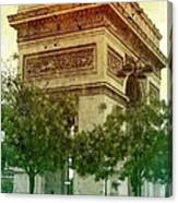 Arche De Triomphe Mood Canvas Print