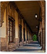 Arched Corridor Canvas Print
