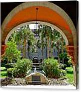 Arched Courtyard Canvas Print