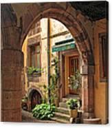 Arched Doorway In Kayserberg Canvas Print