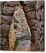 Arched Medieval Gate Canvas Print