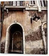 Arched Passage In Old Rustic Venetian House Canvas Print