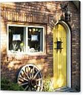 Arched Yellow Door Canvas Print