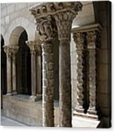 Arches And Columns - Cloister Nyc Canvas Print