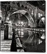 Arches At Night. Canvas Print