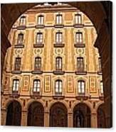 Arches Of Montserrat Monastery Catalonia Spain  Canvas Print