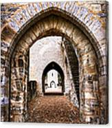Arches Of Valentre Bridge In Cahors France Canvas Print