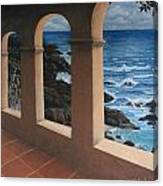 Arches Over The Ocean Canvas Print