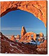 Arches Window Frame Canvas Print