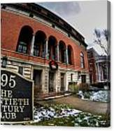 Architecture And Places In The Q.c. Series 01 The Twentieth Century Club Canvas Print