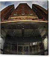 Architecture And Places In The Q.c. Series The Statler Towers Canvas Print