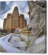 Architecture And Places In The Q.c. Series When The Lions Rest Canvas Print