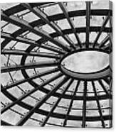 Architecture Ceiling In Black And White Canvas Print