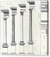 Architecture I Orders Of Architecture Engraved By Charles Lawrie Canvas Print