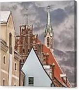Architecture In Riga Latvia Canvas Print