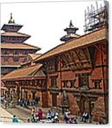 Architecture Of Patan Durbar Square In Lalitpur-nepal Canvas Print