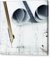 Architecture Planning Canvas Print