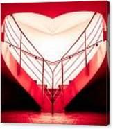 architecture's valentine - redI Canvas Print