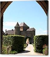 Archway Chateau Of Berze Canvas Print