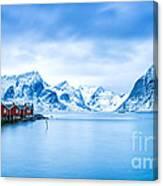 Arctic Dawn Lofoten Islands Canvas Print