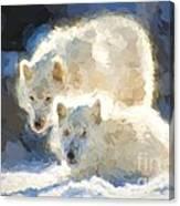 Arctic Wolves - Painterly Canvas Print