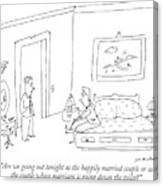 Are We Going Out Tonight As The Happily Married Canvas Print