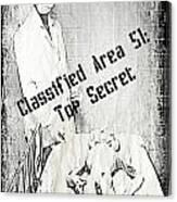 Area 51 Declassified Canvas Print