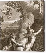 Arethusa Pursued By Alpheus And Turned Canvas Print