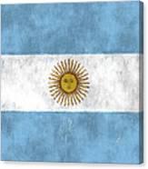 Argentina Flag Canvas Print
