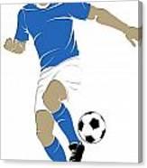 Argentina Soccer Player1 Canvas Print